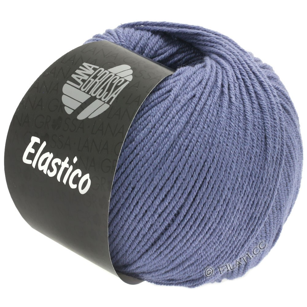 Lana Grossa ELASTICO Uni/Print | 135-plum blue
