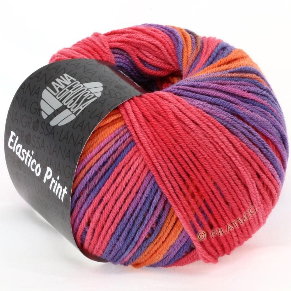 Lana Grossa ELASTICO  Uni/Print | 503-orange/raspberry/purple