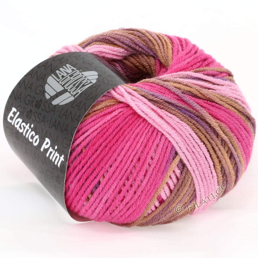 Lana Grossa ELASTICO  Uni/Print | 507-rose/pink/cognac/purple
