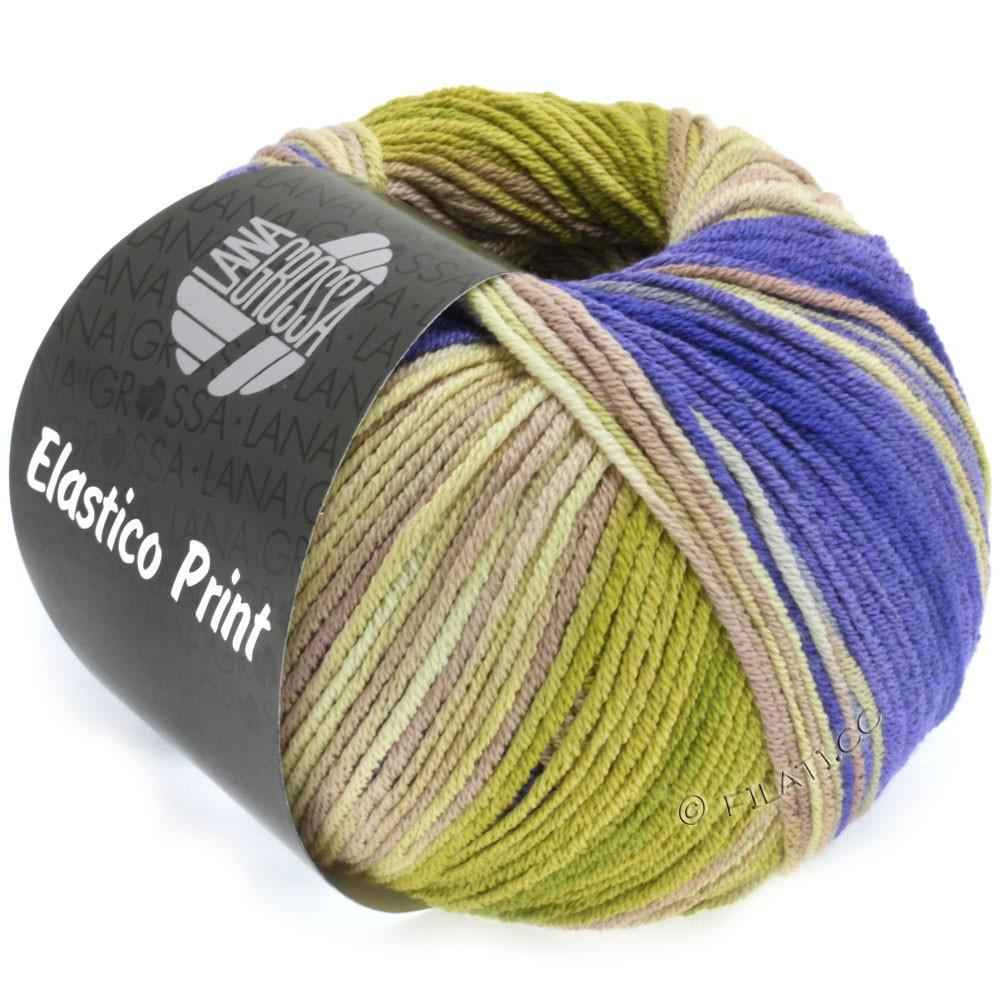Lana Grossa ELASTICO  Uni/Print | 515-purple/olive/beige/grège/taupe