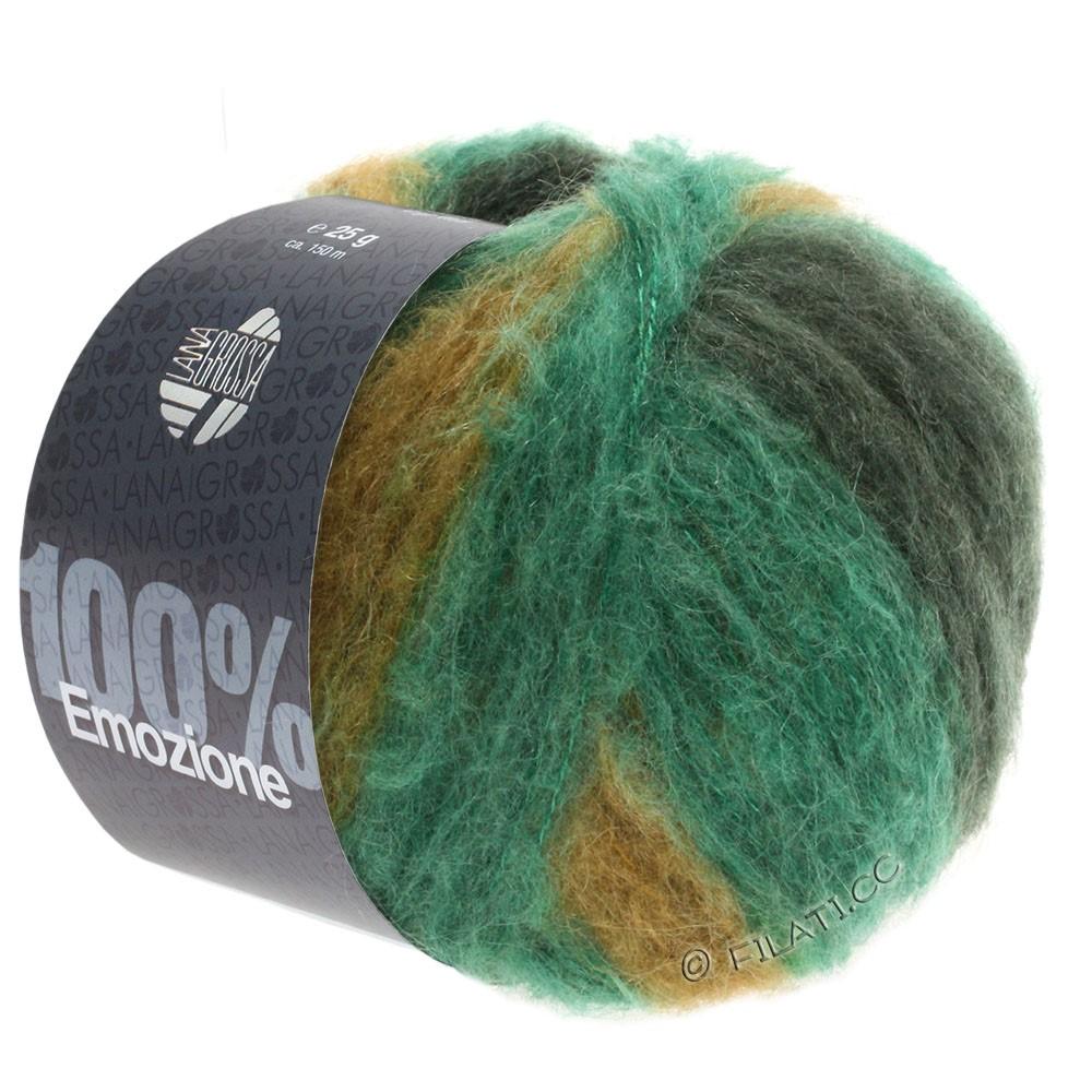 Lana Grossa EMOZIONE Degradé | 103-emerald/black green/olive