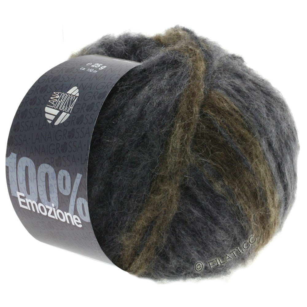 Lana Grossa EMOZIONE Degradé | 106-dark gray/anthracite/gray brown