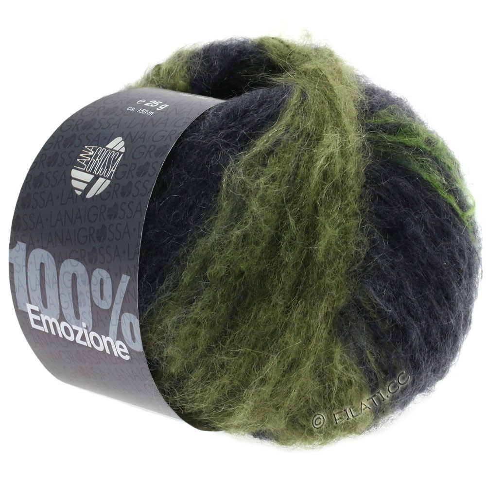 Lana Grossa EMOZIONE Degradé | 110-light green/loden/anthracite