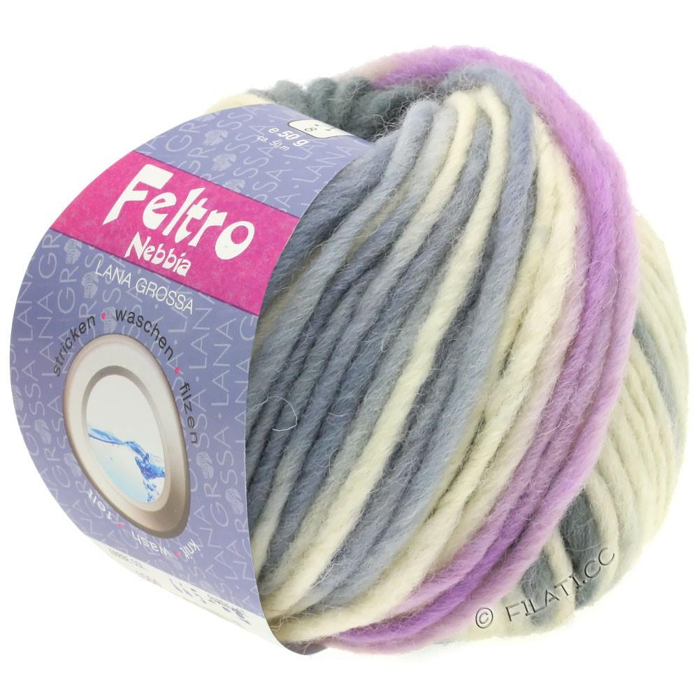 Lana Grossa FELTRO Nebbia | 1501-white/lilac/dark gray/light gray