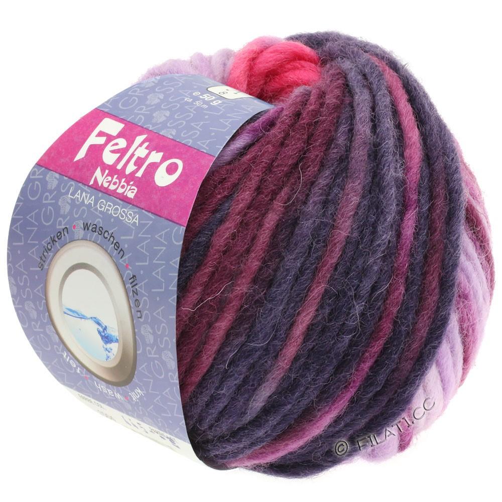 Lana Grossa FELTRO Nebbia | 1502-pink/purple/red violet/eggplant/jeans