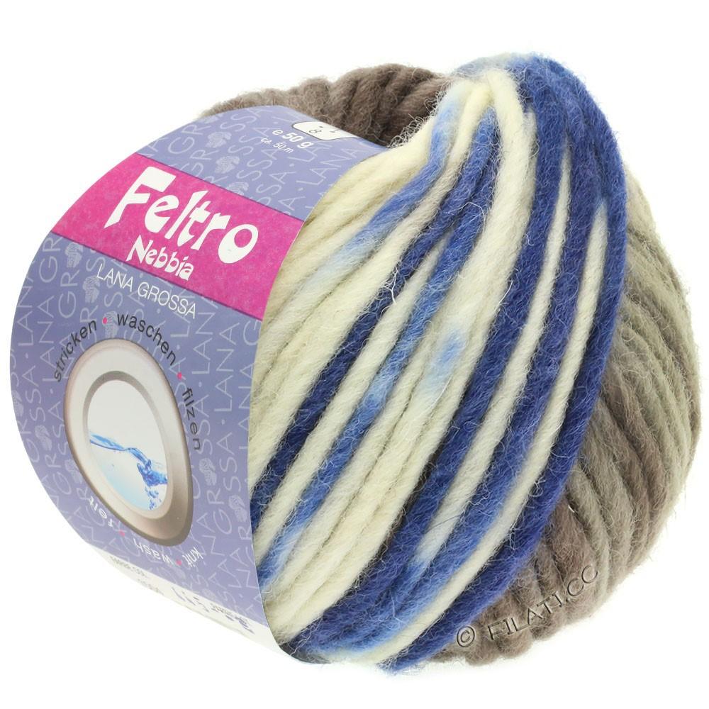 Lana Grossa FELTRO Nebbia | 1503-white/gray brown/blue