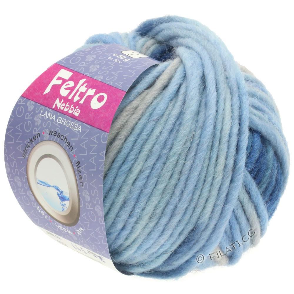 Lana Grossa FELTRO Nebbia | 1504-light blue/sky blue/dark blue/light gray