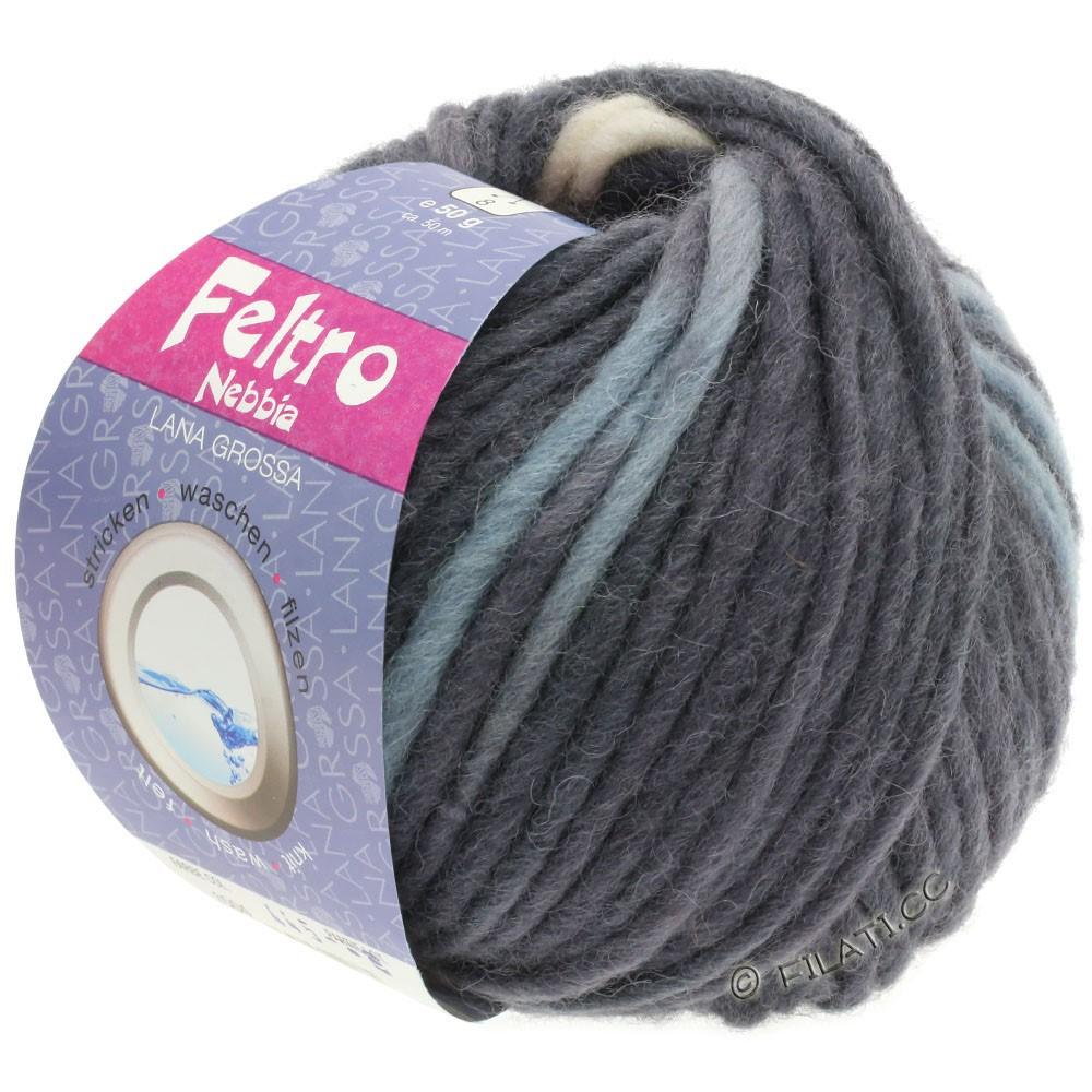 Lana Grossa FELTRO Nebbia | 1507-light gray/gray/anthracite