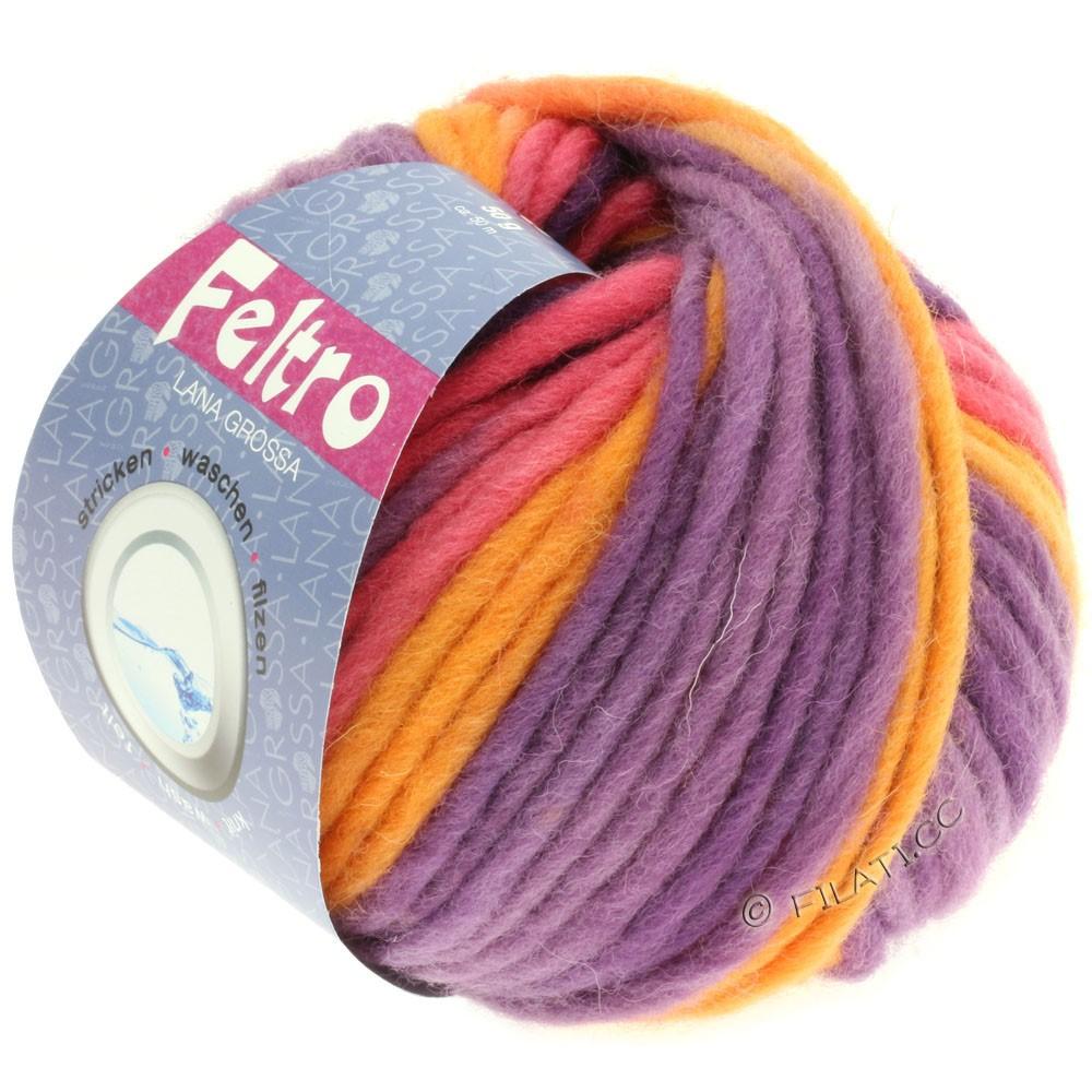 Lana Grossa FELTRO Print | 305-purple/orange/raspberry
