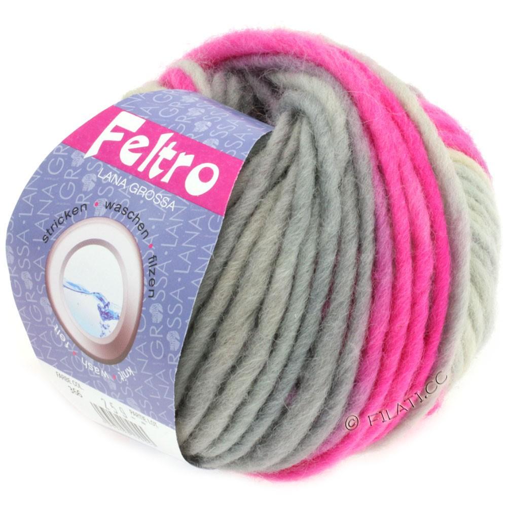 Lana Grossa FELTRO Print | 366-natural/pink/grège/light gray