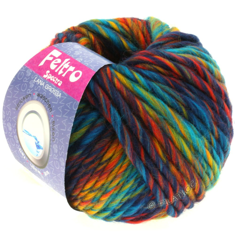 Lana Grossa FELTRO Spectra | 801-turquoise/blue/yellow/red