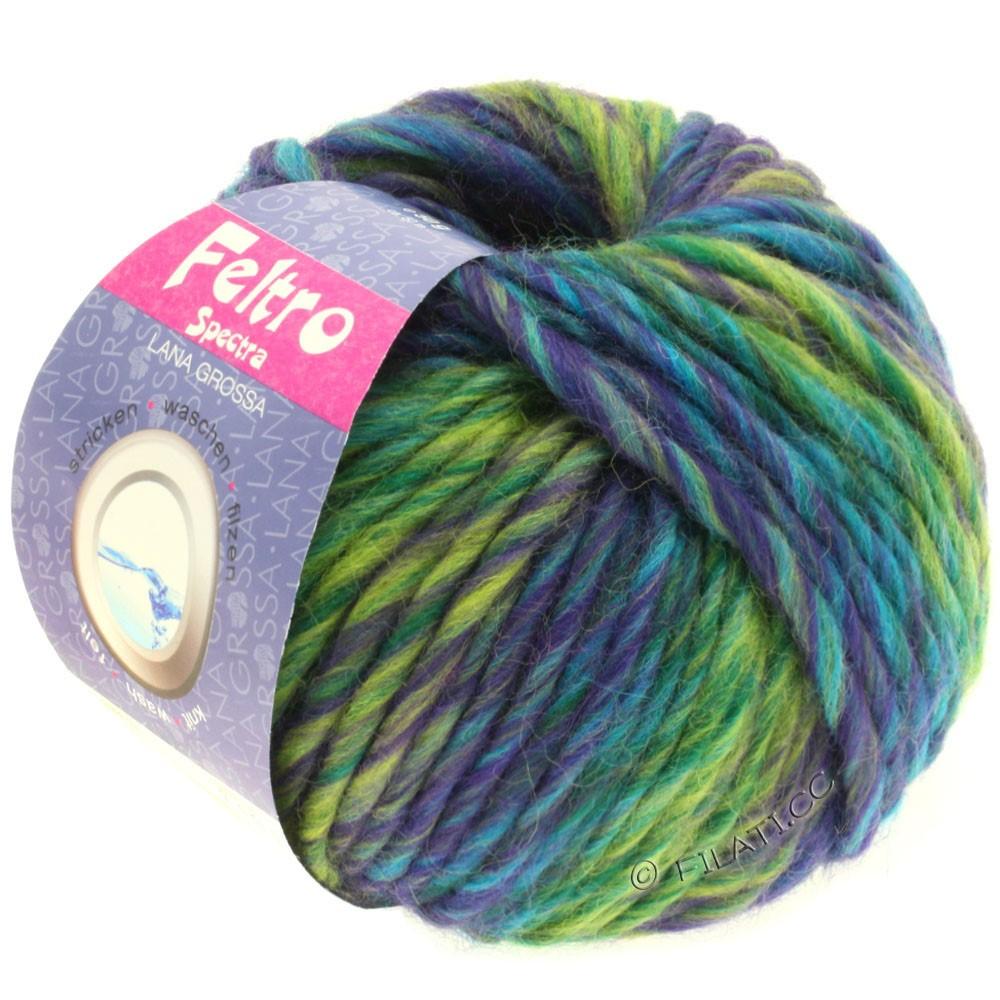 Lana Grossa FELTRO Spectra | 802-purple/yellow green/petrol/turquoise