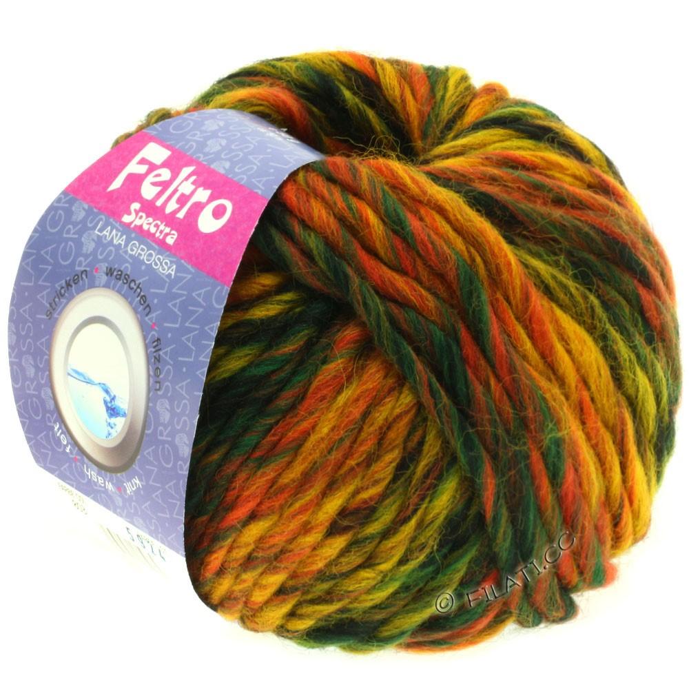 Lana Grossa FELTRO Spectra | 803-rust/yellow/mocha/dark green/black