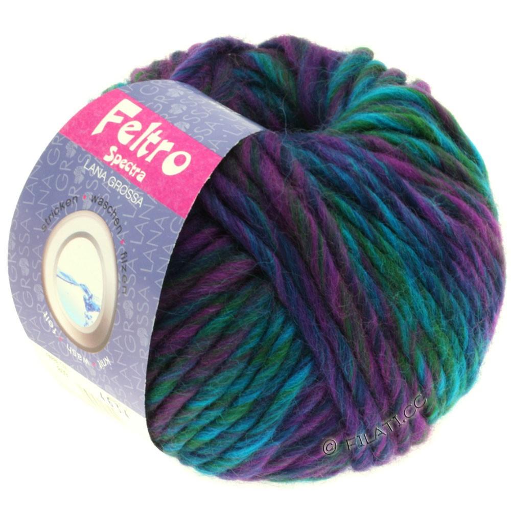Lana Grossa FELTRO Spectra | 809-red violet/navy/turquoise/petrol/bottle green