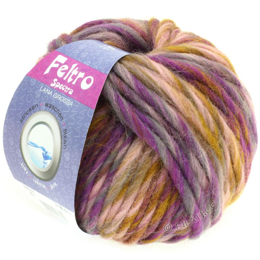 Lana Grossa FELTRO Spectra | 811-rose/mustard/violet/gray