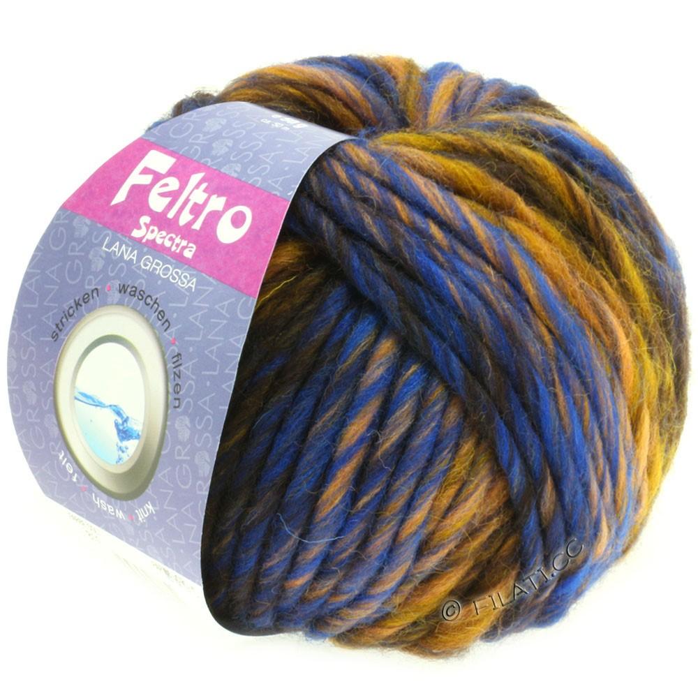 Lana Grossa FELTRO Spectra | 812-ocher/blue/gold/mocha