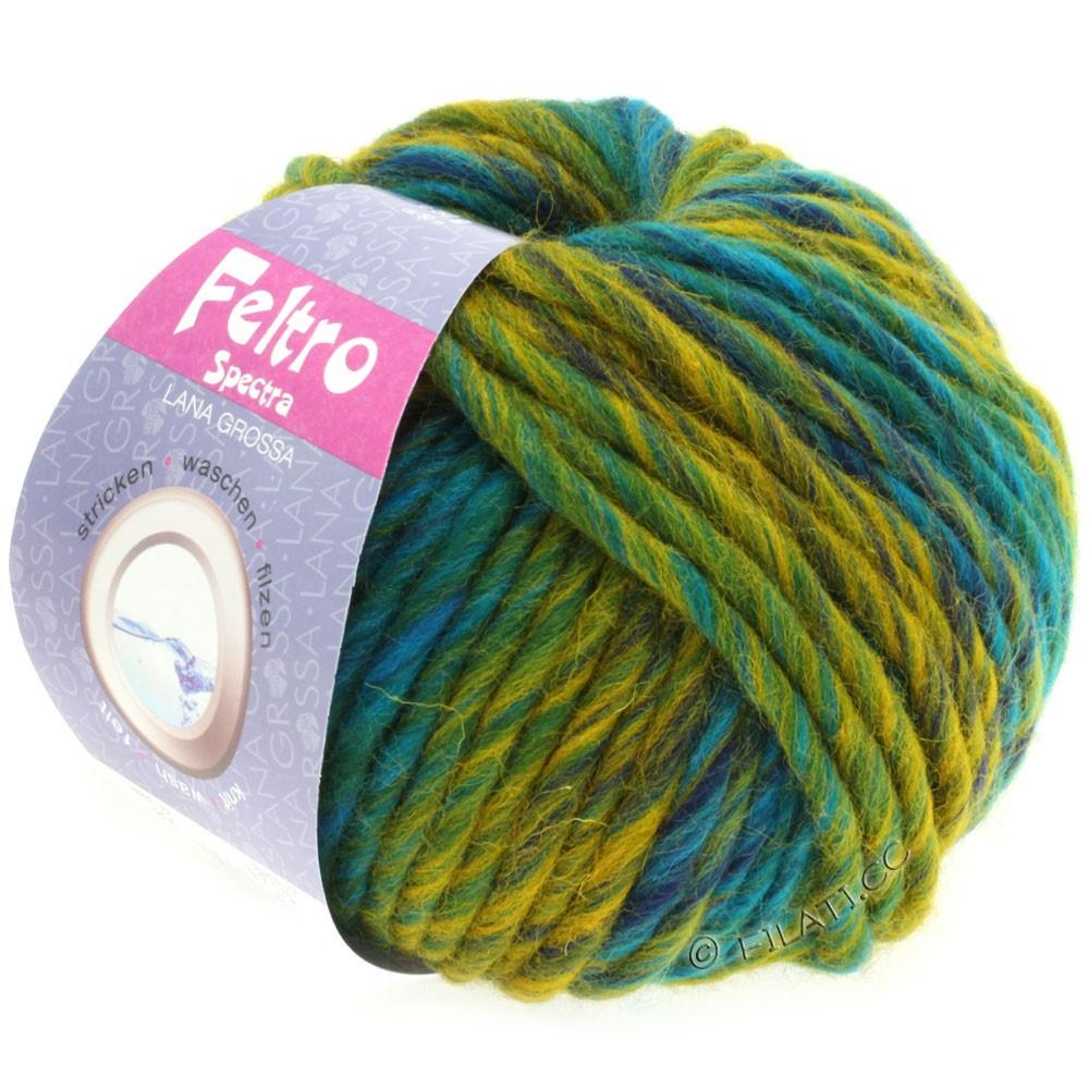 Lana Grossa FELTRO Spectra | 814-turquoise/petrol/yellow/navy