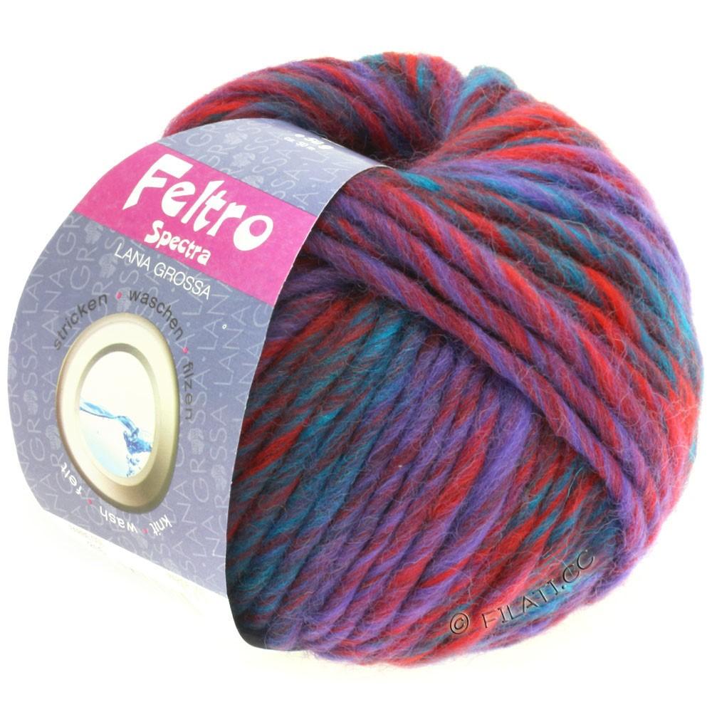 Lana Grossa FELTRO Spectra | 816-dark red/violet/petrol