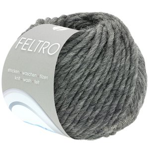 Lana Grossa FELTRO  Uni | 004-dark gray mottled