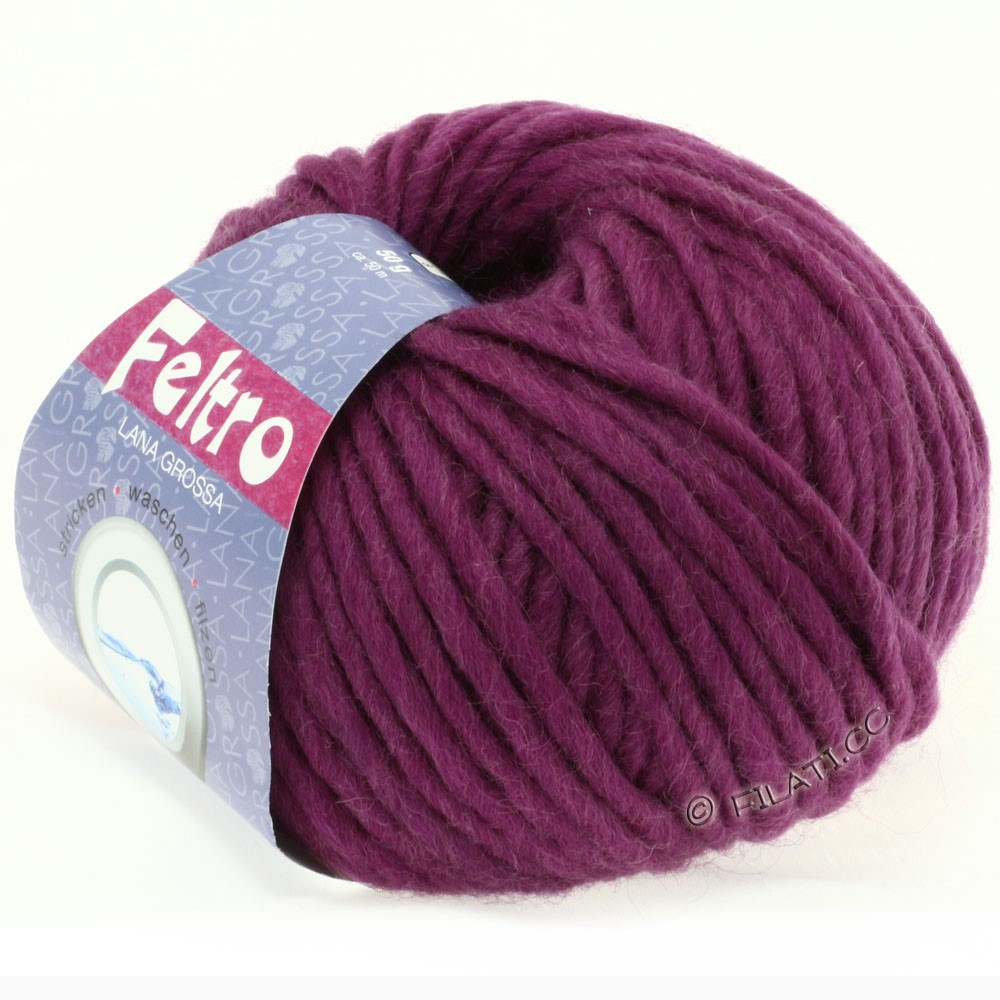 Lana Grossa FELTRO  Uni | 022-red violet