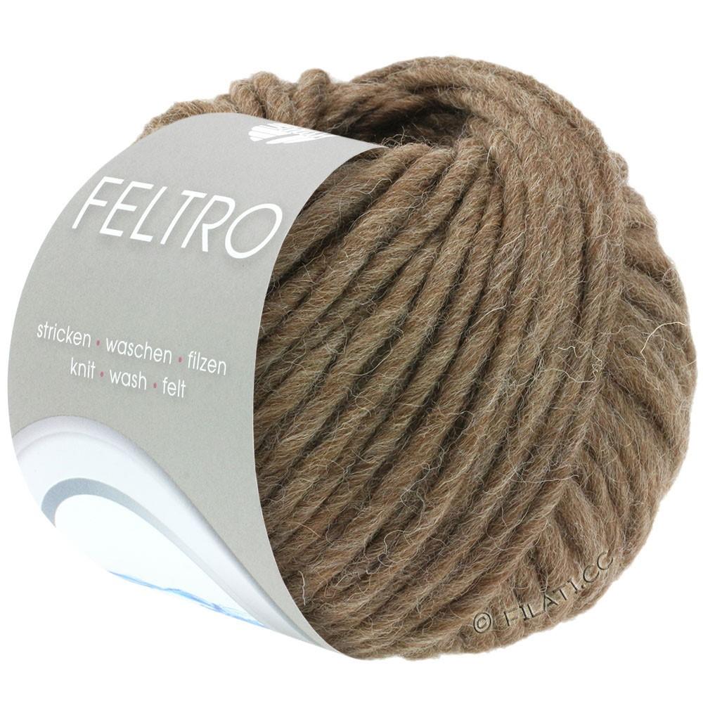 Lana Grossa FELTRO  Uni | 023-brown mottled