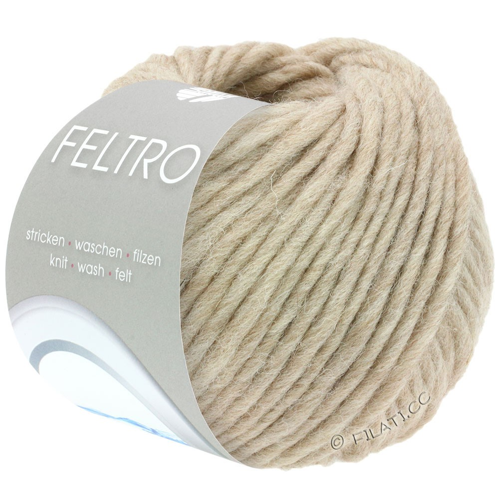 Lana Grossa FELTRO  Uni | 024-beige mottled