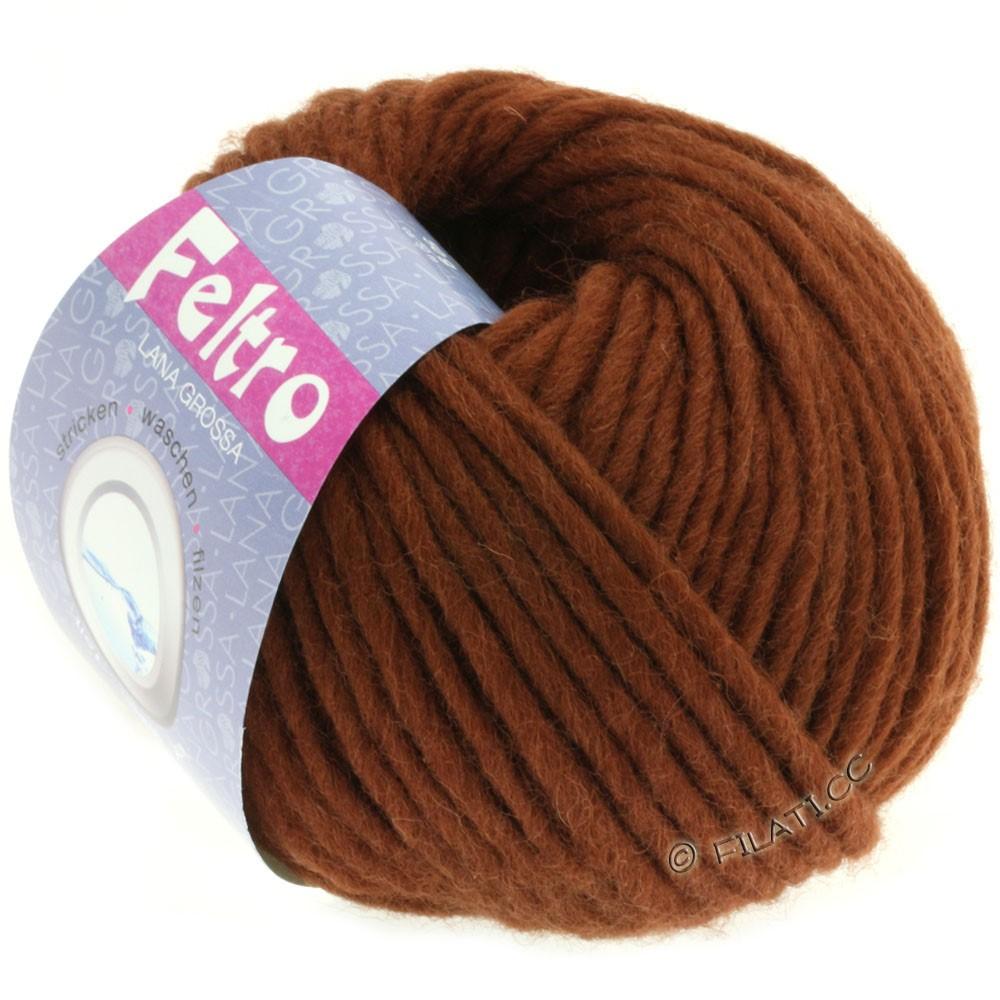 Lana Grossa FELTRO  Uni   064-red brown