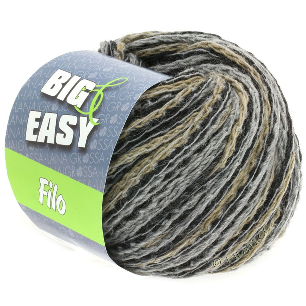 Lana Grossa FILO Multicolor (Big & Easy) | 102-gray/black/taupe