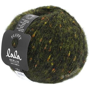 Lana Grossa FLUFFY (lala BERLIN) | 109-dark green mottled