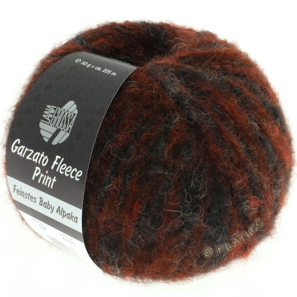 Lana Grossa GARZATO Fleece Uni/Print/Degradé | 104-rust/natural/black