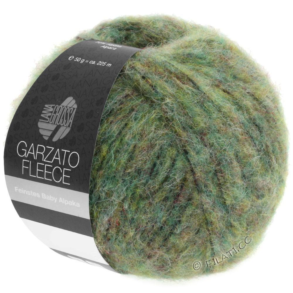 Lana Grossa GARZATO Fleece Uni/Print/Degradé | 030-light green/yellow green/black