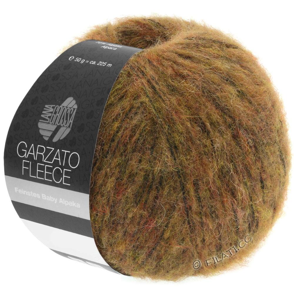 Lana Grossa GARZATO Fleece Uni/Print/Degradé | 031-light brown/ochre/black