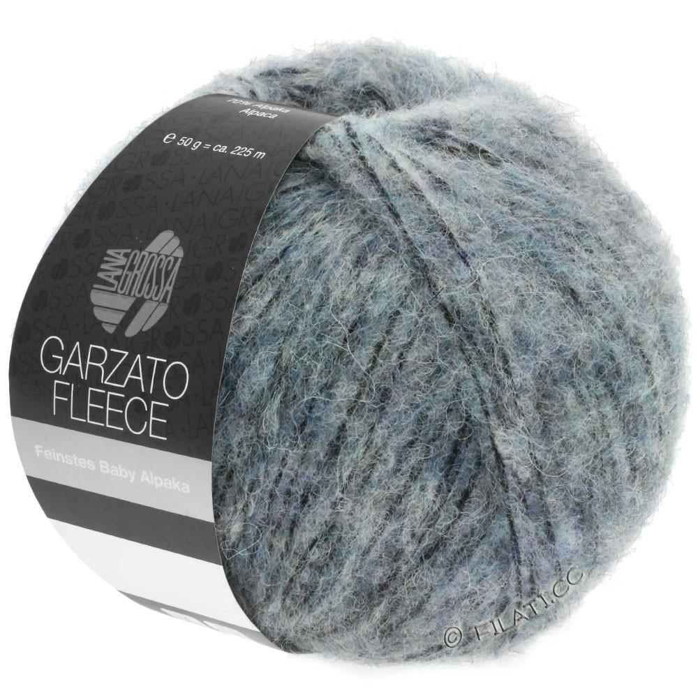 Lana Grossa GARZATO Fleece Uni/Print/Degradé | 032-light blue/black