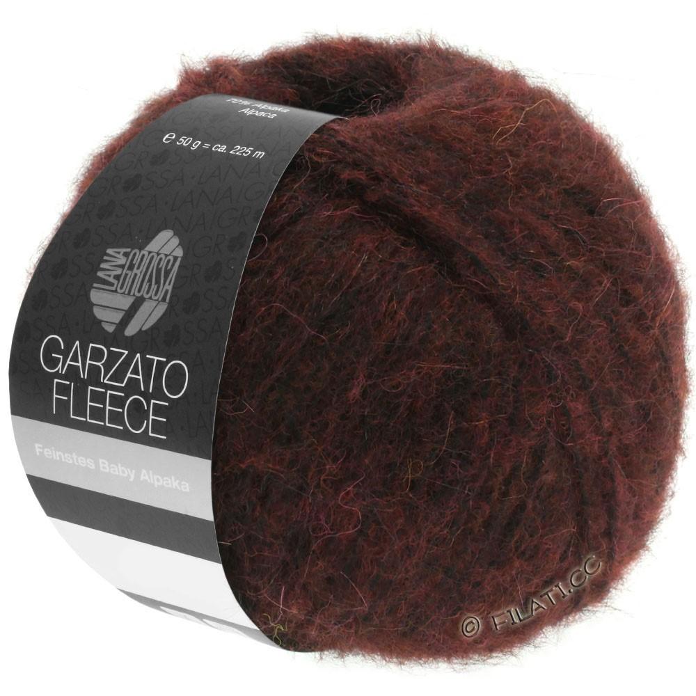 Lana Grossa GARZATO Fleece Uni/Print/Degradé | 034-burgundy/black