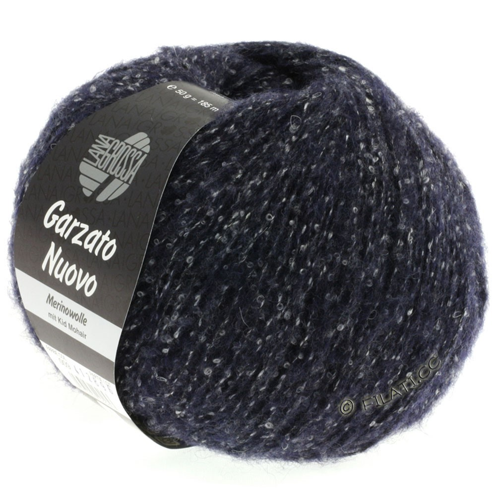 Lana Grossa GARZATO Nuovo | 009-midnight blue/raw white/black