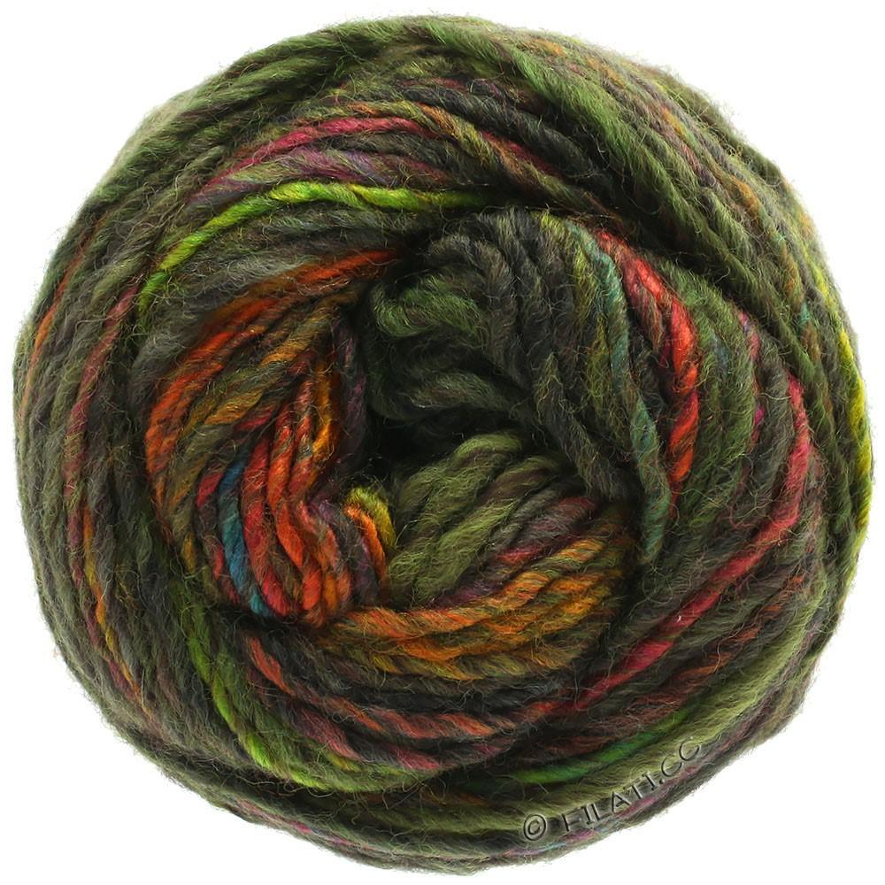 Lana Grossa GOMITOLO 100 | 101-moss green/olive/orange/copper