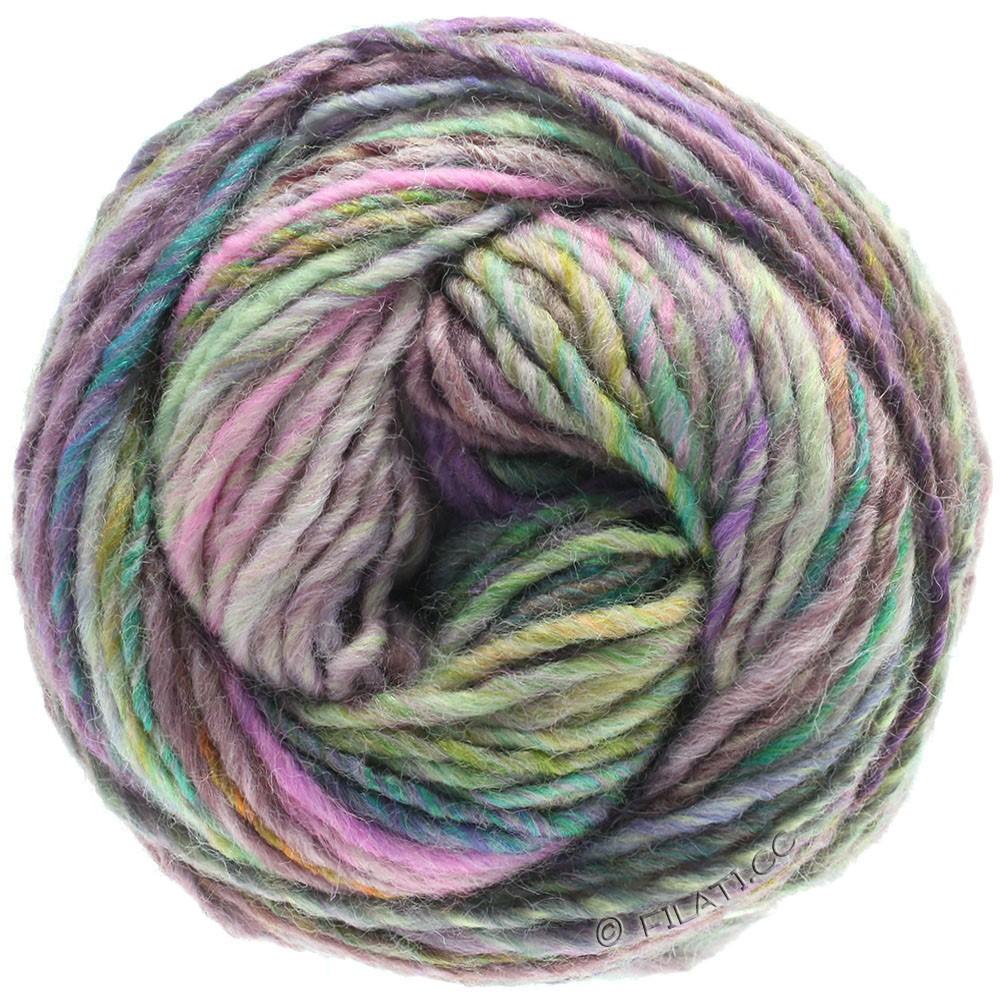 Lana Grossa GOMITOLO 100 | 104-subtle purple/blackberry/gold/light green