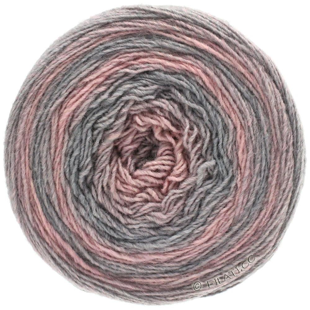 Lana Grossa GOMITOLO 200 Degradé | 303-light gray/rose