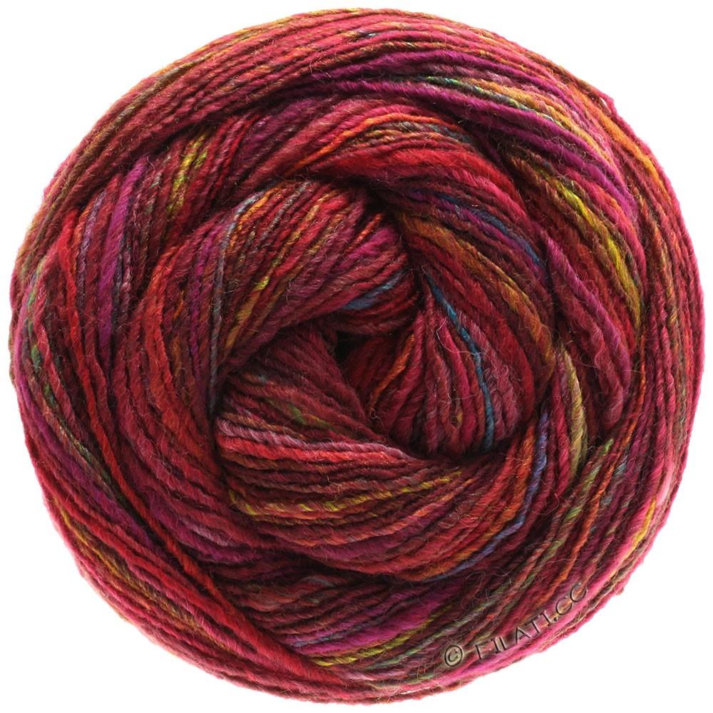 Lana Grossa GOMITOLO 200 | 201-purple red/emerald/copper/petrol
