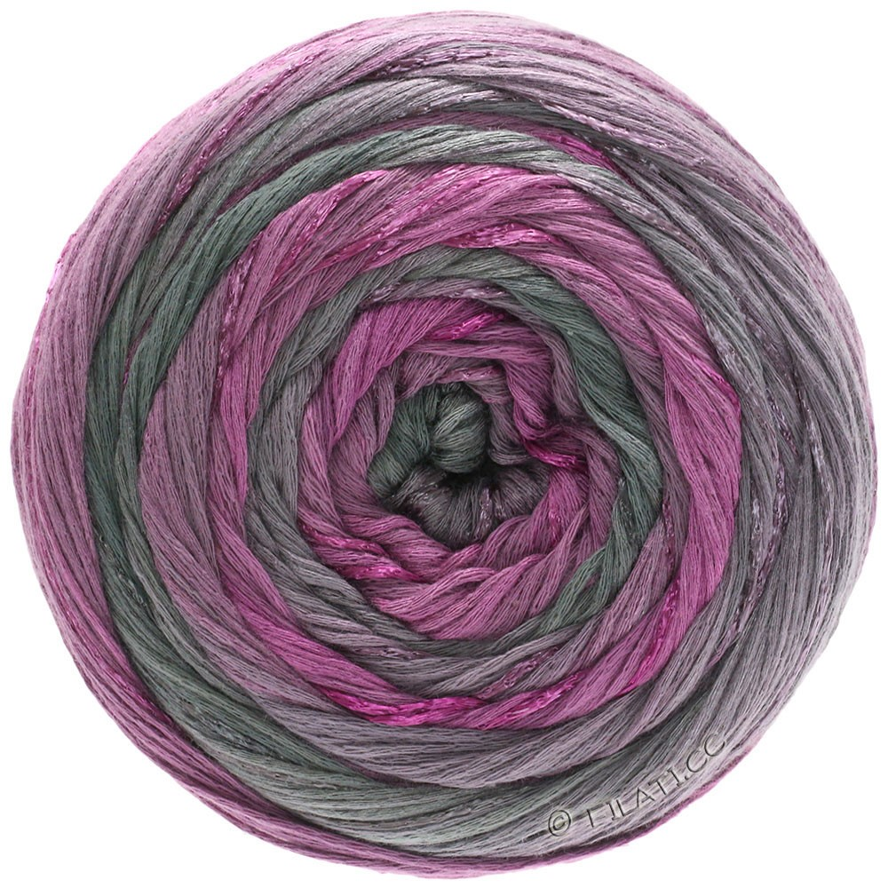 Lana Grossa GOMITOLO ESTATE | 303-red violet/mauve/gray/dark gray
