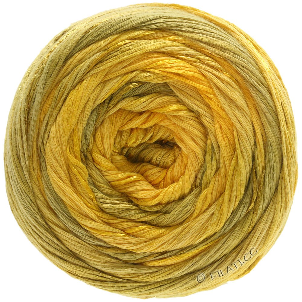 Lana Grossa GOMITOLO ESTATE | 307-sun yellow/honey yellow/mustard/saffron yellow