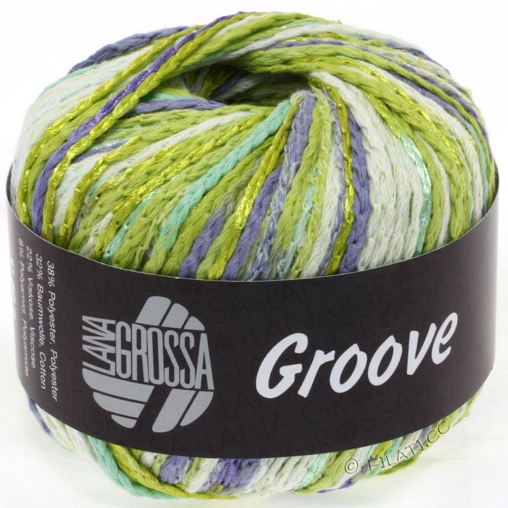 Lana Grossa GROOVE | 07-linden green/yellow green/natural/purple