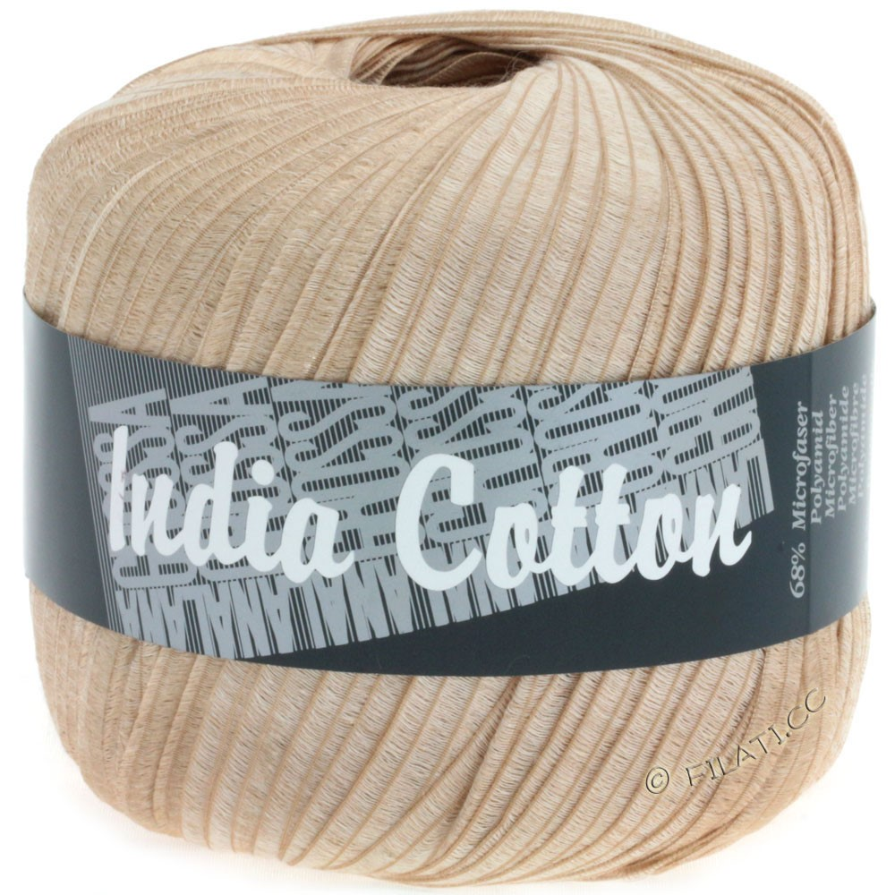 Lana Grossa INDIA Cotton Uni/Print | 202-beige