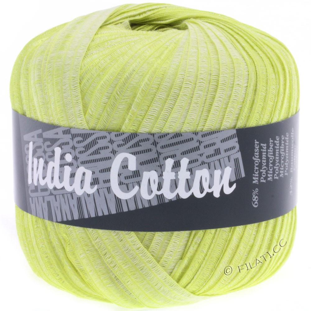 Lana Grossa INDIA Cotton Uni/Print | 208-yellow green