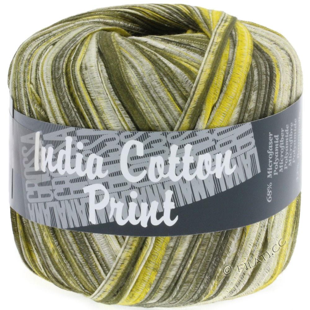 Lana Grossa INDIA Cotton Uni/Print | 302-olive/yellow/natural