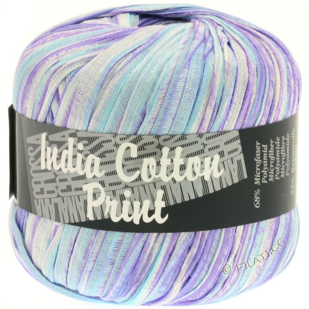 Lana Grossa INDIA Cotton Uni/Print | 304-purple/light blue/white