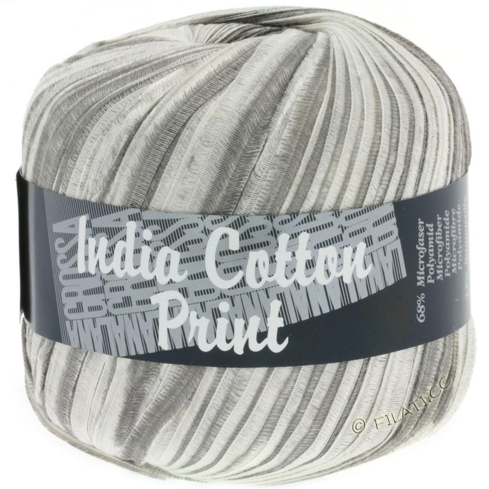 Lana Grossa INDIA Cotton Uni/Print | 306-gray/light gray/white
