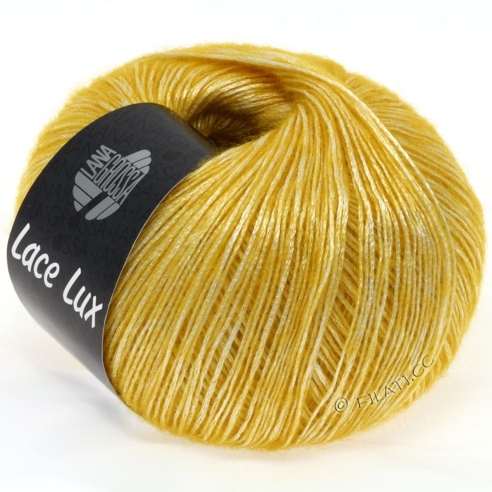 Lana Grossa LACE Lux | 33-yolk yellow mottled