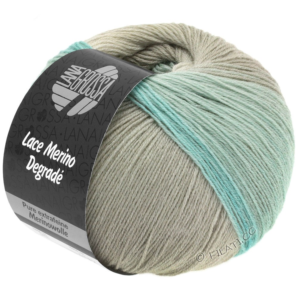 Lana Grossa LACE Merino Degradé | 403-grège/beige/subtle green