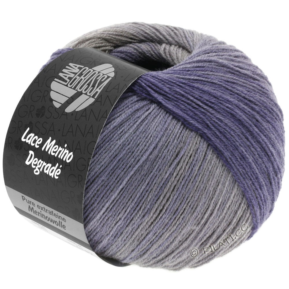 Lana Grossa LACE Merino Degradè | 404-beige gray/gray brown/gray lilac